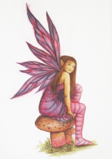 Watercolour and coloured pencil, A5 - Sold