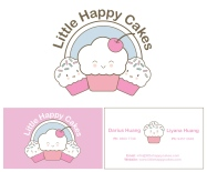 Happy Cakes logo and bc