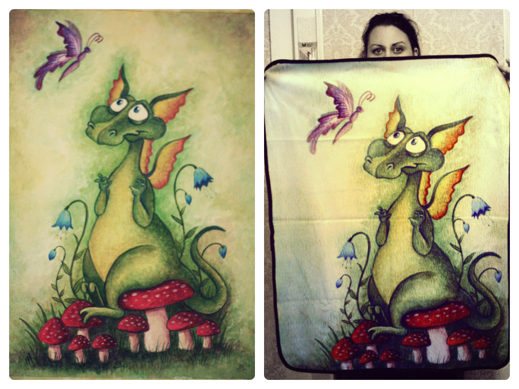 Another dragon blankie! And original artwork.