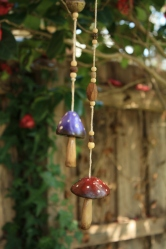 Hand sculpted clay toadstools