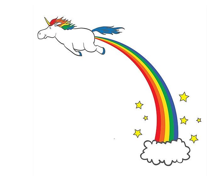 Unicorn farting